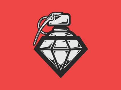 Granade + Diamond + Spray Cap granade diamond spray cap vector flat design illustration shadyau wbd