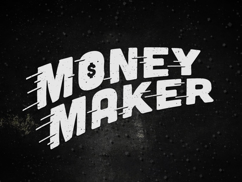 Money Maker money maker type type treatment typo typography letters font $ shadyau wbd design inspiration