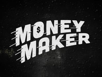 Money Maker money maker type type treatment typo typography letters font $ shadyau wbd design inspiration