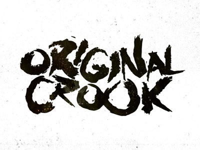 Original Crook original crook type typo typography letters grunge ink design shadyau wbd