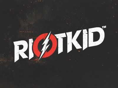 RIOTKID™ riotkid type type treatment typo typography letters avant garde thunder design logo shadyau wbd