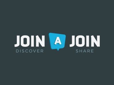 Join A Join 2 join logo branding typo typography type logotype discover share blue deals design brand identity