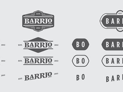 BARRIO Logotype est barrio logotype logo type treatment identity mockup print branding wbd