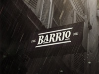 BARRIO Sign