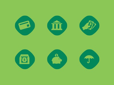 Firstbank Icons icons firstbank money flat design wbd