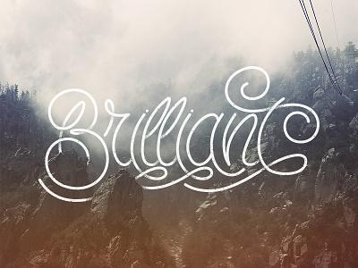Brilliant script ligatures typography type lettering hand lettering