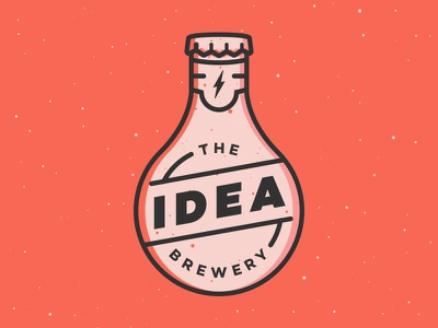 The Idea Brewery brand design logotype icon texture illustration logo brewery idea