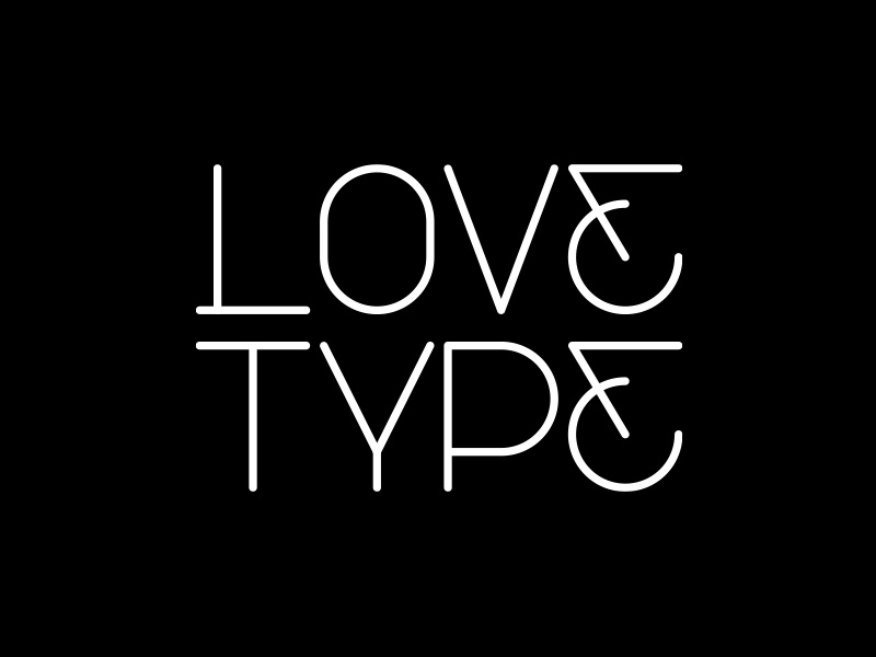 Love Type minimal simple design love typography type custom logo