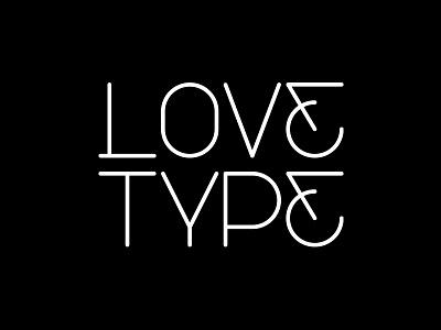 Love Type minimal simple design love typography type custom logo
