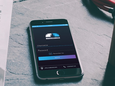 Bank Sign In ux ui finance money mobile app signin bank sign in