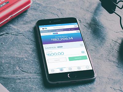 Bank Send Money ux ui finance balance money savings mobile app transfer bank send