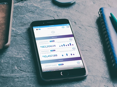 Bank Accounts List ux ui finance money analytics mobile app accounts bank pull list