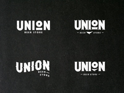 Union Beer Store typetreatment type typography whale brand mark design logotype store beer logo union