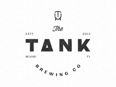 The Tank Brewing Co. miami icon design branding logotype logo craft beer beer brewery brewing