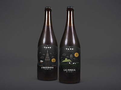 Freedom Tower / La Finca Miami Opt 1 label design design miami the tank brewing co beer craft beer beer bottle label beer label