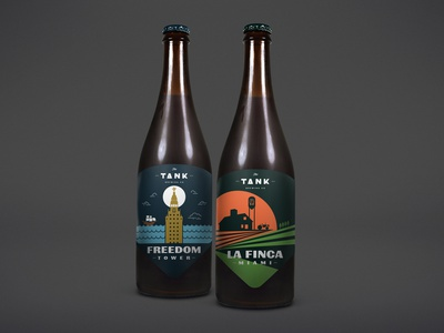 Freedom Tower / La Finca Miami Opt 2 beer label label beer bottle craft beer beer the tank brewing co miami design label design