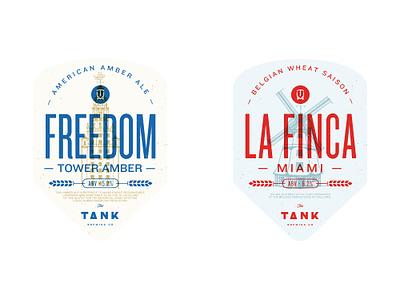 Freedom Tower / La Finca Miami Opt 3 la finca miami freedom tower label design design miami the tank brewing co beer craft beer beer bottle label beer label
