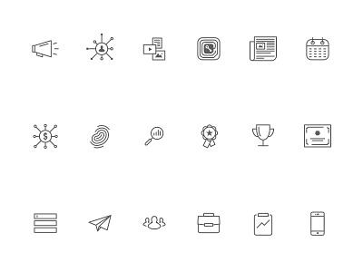 Rep Icon Set set flat symbols glyphs illustration design iconography icons