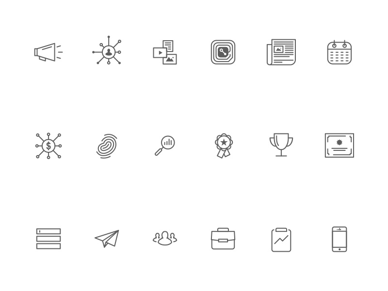 Rep Icon Set set flat symbols glyphs illustration design iconography icons