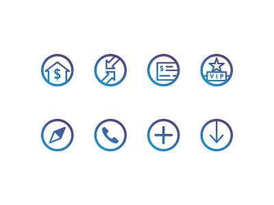 BankUnited Icon Set icons iconography design illustration glyphs symbols flat set