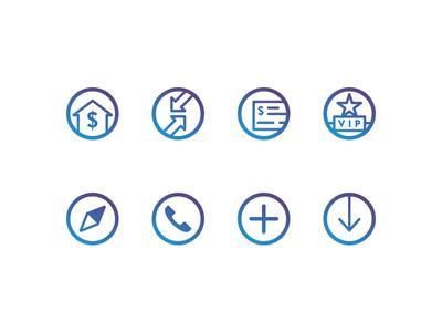 BankUnited Icon Set