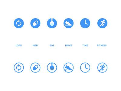 Type 2 Icon Set icons iconography design illustration glyphs symbols flat set