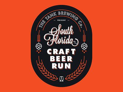 SFCBR v1 south florida typography design badge beer craft beer logo