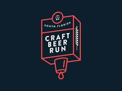 SFCBR v2 south florida typography design badge beer craft beer logo