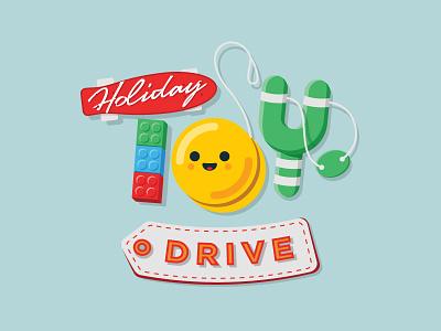 Toy Drive Fundraising Logo design fun fundraising toys colors illustration logo