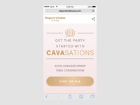 Cavasations prototype interface ux-ui uidesign