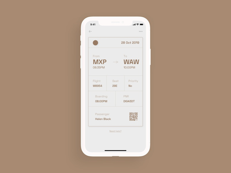 005 - Boarding Pass - Daily UI Challenge wireframe brutalist brutalism uidesign ui product minimal linear ios flat duotone design dailyui colors clean challenge app