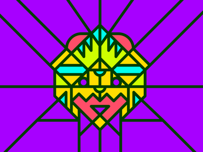 Geometric Mask geometric design geometry lines colours kaiju mask graphic design illustrator vector design illustration