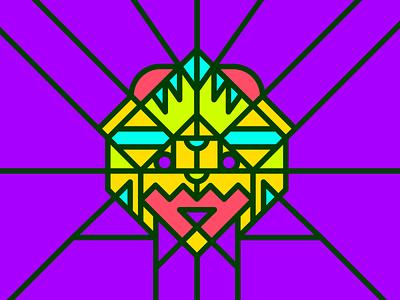Geometric Mask geometric design geometry lines colours kaiju mask graphic design illustrator vector design illustration