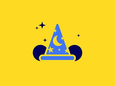 Sorcerer Mickey Hat sorcerer mickey mickey mouse disney icon logo vector illustrator typography design illustration graphic design