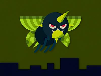 Radbug poster japan character kanji monsters vector art vector illustrator graphic design design illustration