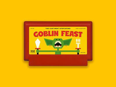 GOBLIN FEAST - Famicase 2021 video games videogames nintendo famicom goblin fantasy famicase 2021 myfamicase famicase typography illustrator design vector illustration graphic design