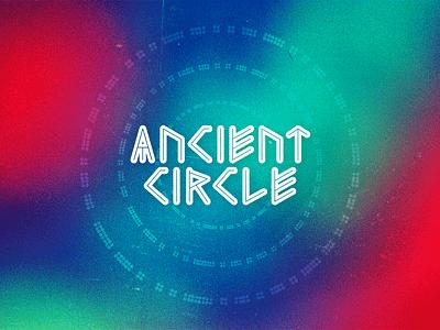 Ancient Circle type design typography typo logo design psychadelic band rock band music branding logo vector design graphic design
