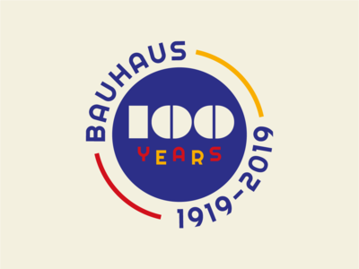 100 Years of Bauhaus Badge