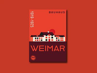 Bauhaus Anniversary Posters – Weimar poster design bauhaus100 bauhaus poster typography illustrator vector illustration graphic design design