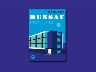 Bauhaus Anniversary Posters – Dessau poster design germany bauhaus100 bauhaus type poster illustrator typography vector design illustration graphic design