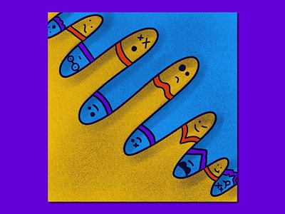 Random poster design graphic design vector texture procreate illustrator illustration