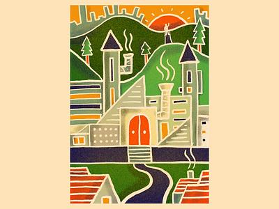 Random 02 art city texture procreate poster illustrator graphic design design illustration