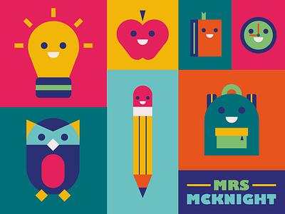 School Illustrations class school teacher design type poster icon typography illustrator vector illustration graphic design