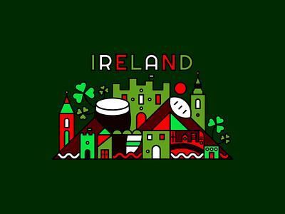 Ireland – Sawgrass Ink city illustration city dublin ireland poster type icon typography illustrator vector graphic design design illustration