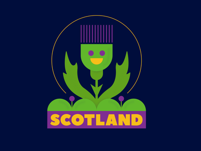 Scotland – Sawgrass Ink designer scottish country thistle scotland poster icon typography illustrator vector illustration design graphic design