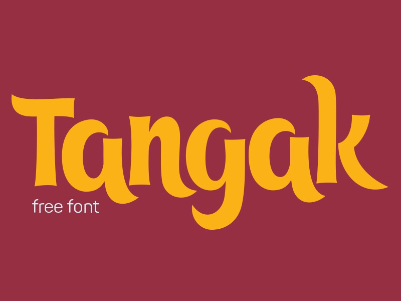 Tangak Free Font free freebie freebies graphic design portfolio download templates font fonts typeface