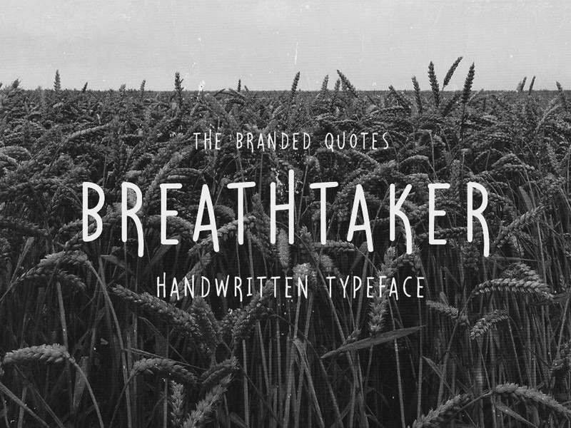 Breathtaker Handwritten Typeface Free Font free freebie freebies graphic design portfolio download templates font fonts typeface