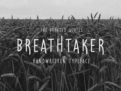 Breathtaker Handwritten Typeface Free Font