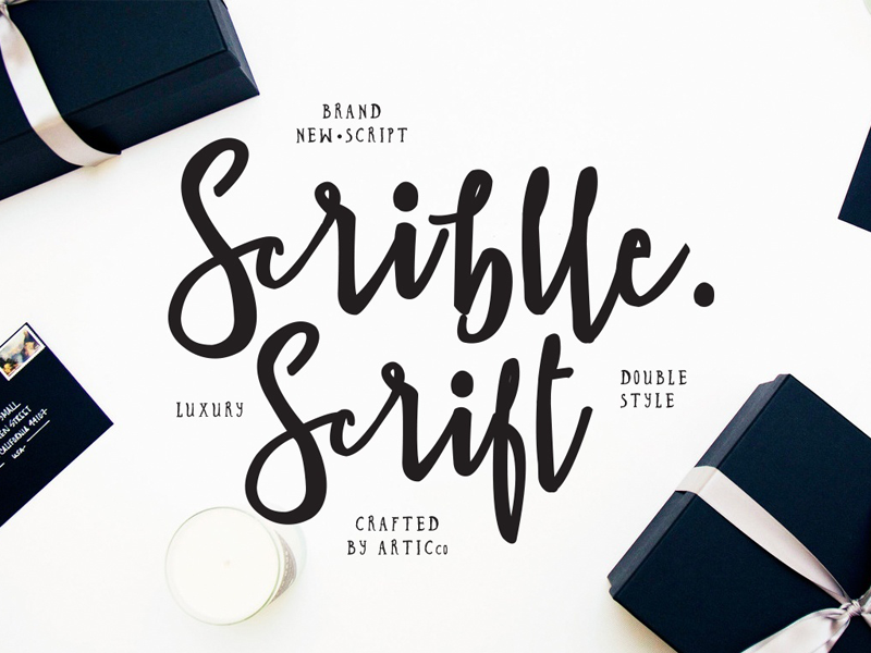 Scriblle Brush Script Font