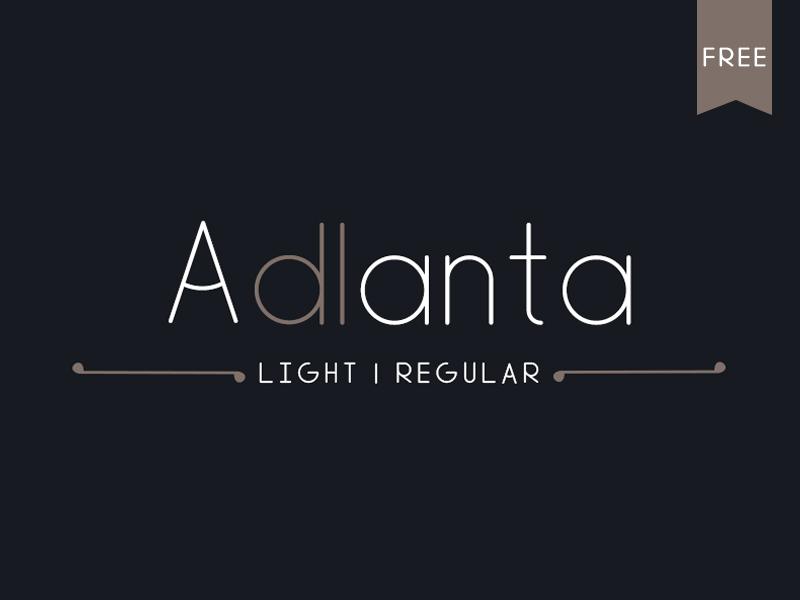 Adlanta Font free freebie freebies graphic design portfolio download font fonts typeface typefaces